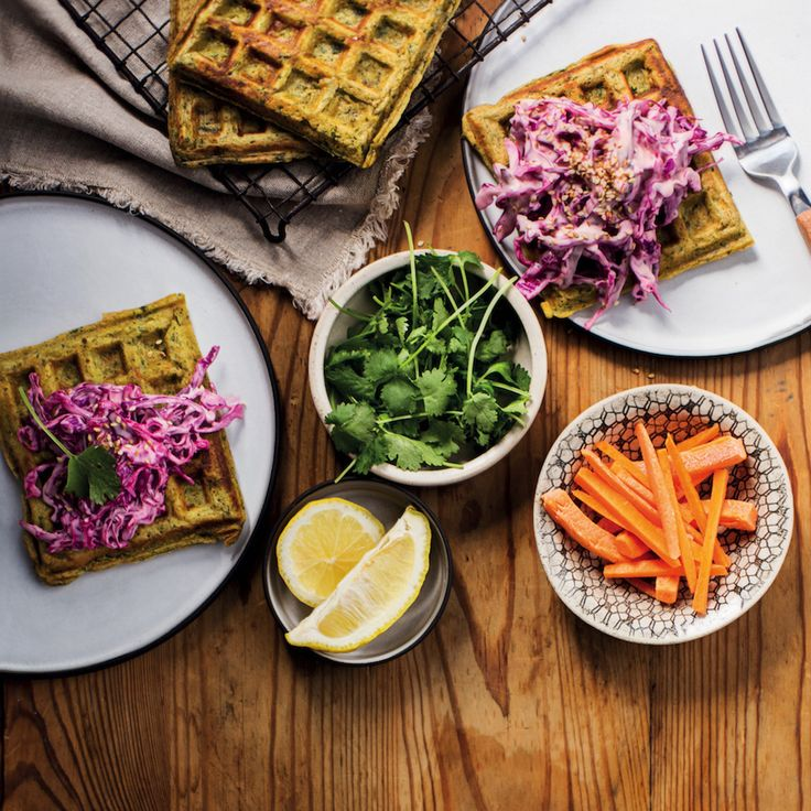 Herby French toast waffles - MyKitchen