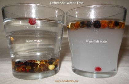 Fake vs Real Amber – Salt Water Test. See if your childs amber teething necklace is real