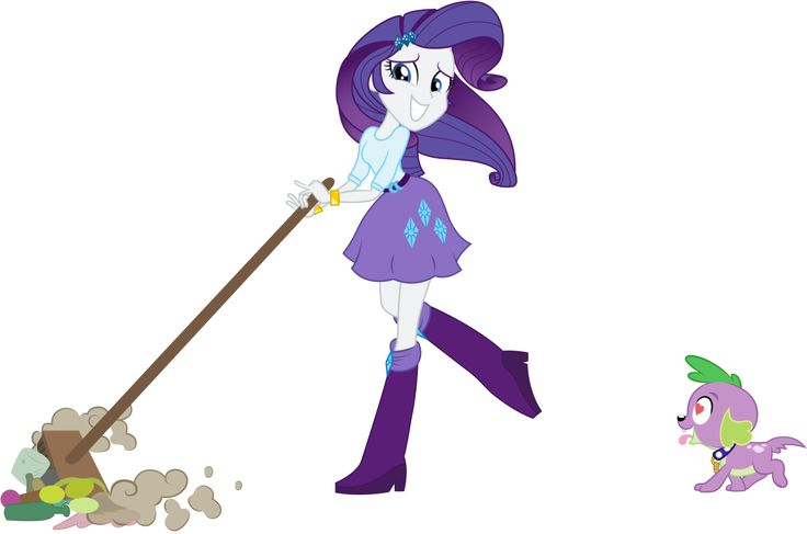 Equestria Girls Rarity Spike - Cleaning and love by JoeMasterPencil on DeviantArt