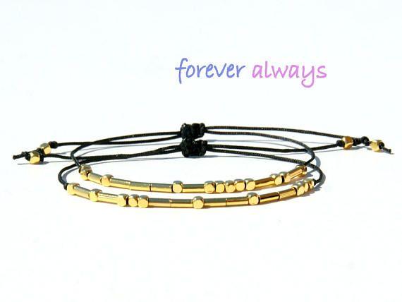 Always Forever Morse Code bracelets-Always Forever Couples