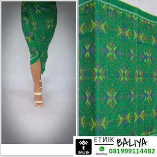 Kain Tenun Endek khas Bali warna Hijau | Whatsapp/Hp : 081999114482