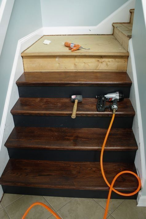 Removing Carpet From Stairs And Replacing It With Wood Stair Treads Is Totally Doable This