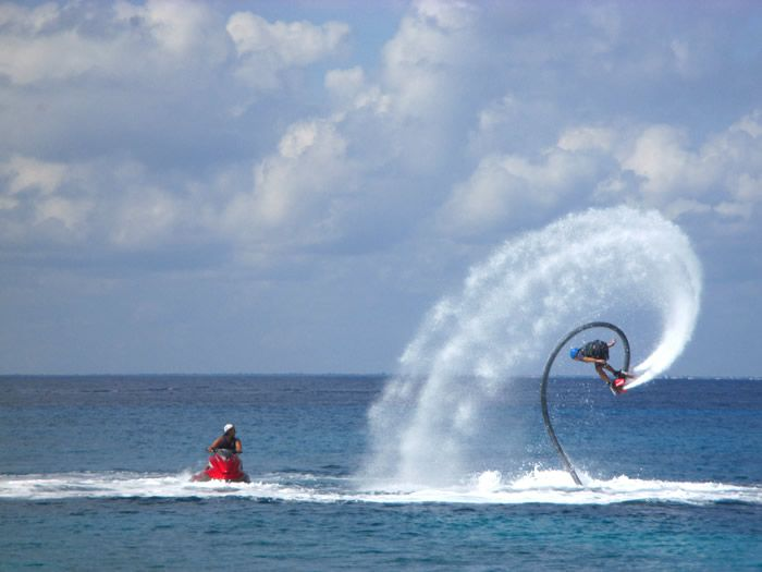 Flyboard Cozumel training session with Jorge and Oscar