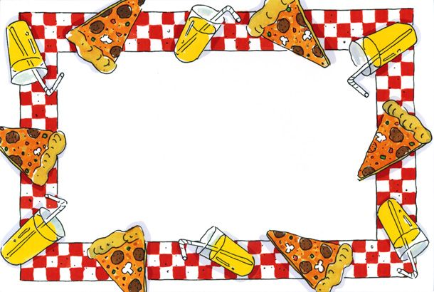pizza clip art border | Pizza Party Border | Desserts ...