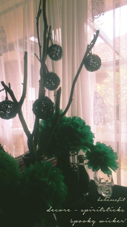 ✧☽ #spiritstick 'spooky wicker' ☾✧ décore  #bohemefit