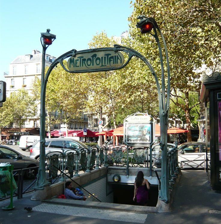 Paris, Métropolitain, Entrée de la station Victor Hugo 2, arch. Hector Guimard