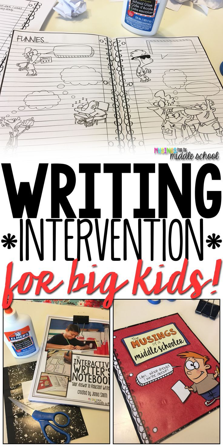Blog post about writing interventions that work for middle school students.