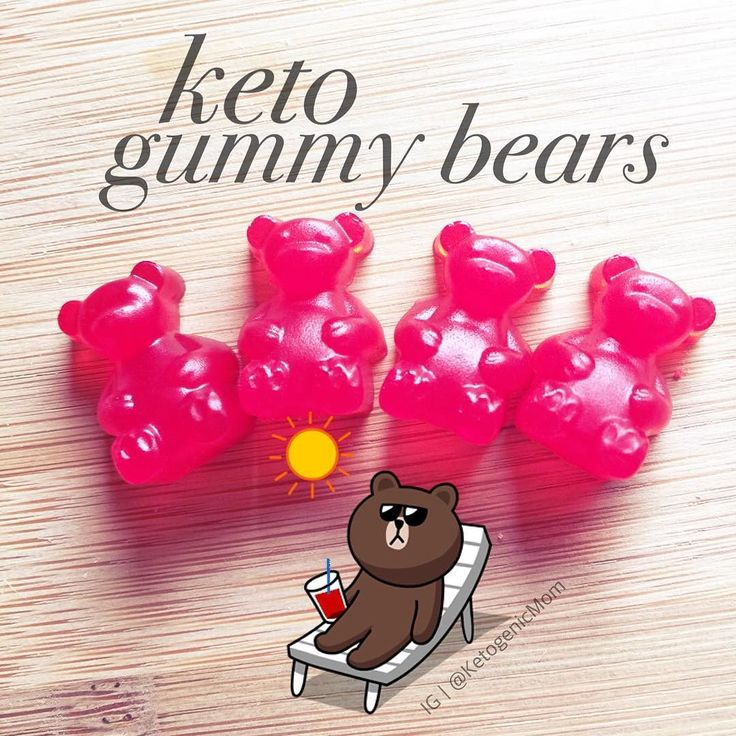Keto gummy bears So good! I use a gummy bear mold. Here's my recipe: Keto Gummies Makes 120 Gummies 5 Packets of Knox Unflavored Gelatin 1/2 pack of Flavored Koolaid (unsweetened) 1/2 Cup of Erythritol 3/4 Cup of Water Boil water and add Kool aid & Erythritol until dissolved. Add 1 packet of Knox at a time and dissolve completely. Remove from heat. Take dropper and fill gummy bear mold. Let it cool for 1 hour and that's it! How easy is that!? So good #weightloss #losingweight…