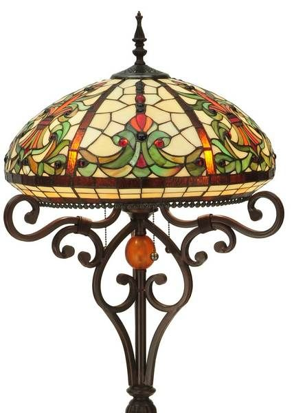 If your floor lamp isn't Baroque, you still may want to replace it with this intricately designed and beautiful Curved Baroque Tiffany Stained Glass floor lamp.