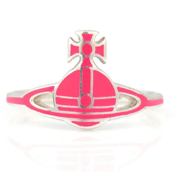 Vivienne Westwood Kate Ring ($78) ❤ liked on Polyvore featuring jewelry, rings, band jewelry, band rings, vivienne westwood jewellery, red jewelry and neon jewelry