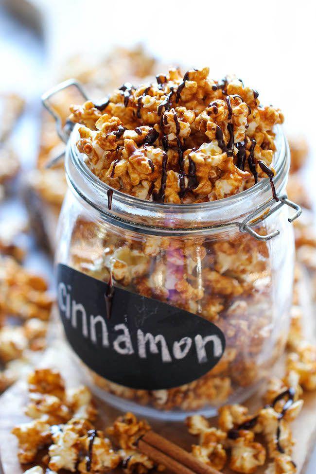 Cinnamon Roll Caramel Corn