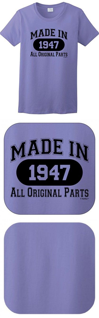 70th Birthday Candles Cards 70th Birthday Gift Made 1947 All Original Parts Ladies T-Shirt 2XL Violet