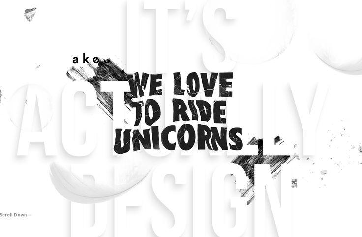 Passionate drivers on colorful unicorns
