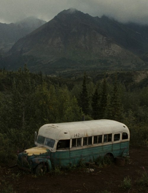 Into the Wild...brings back memories of mr. Moffit's class... I hated that book...