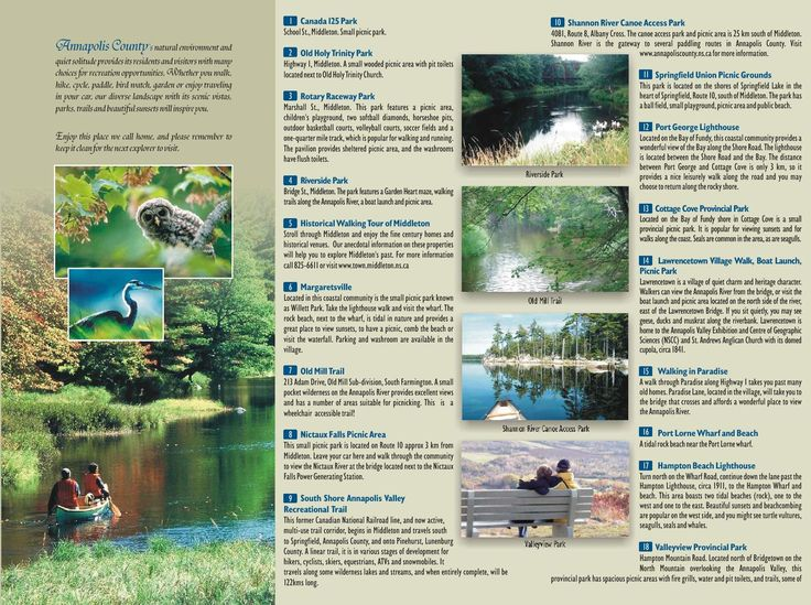 Annapolis Valley Trails and Parks.  We've been to #17, #27, #30, #39 (so far) and a number of the Historic sites listed.
