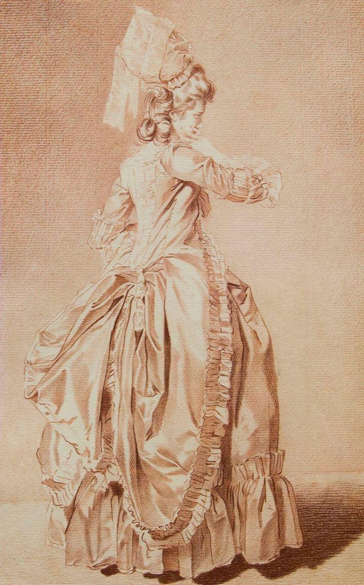Elegant Woman, Late 1700s, Louis Rolland Trinquesse