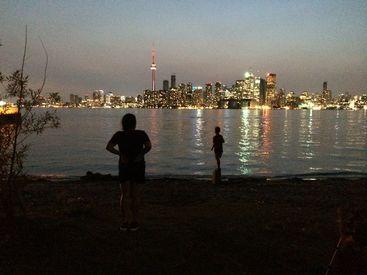 Toronto skyline , view from Center Island