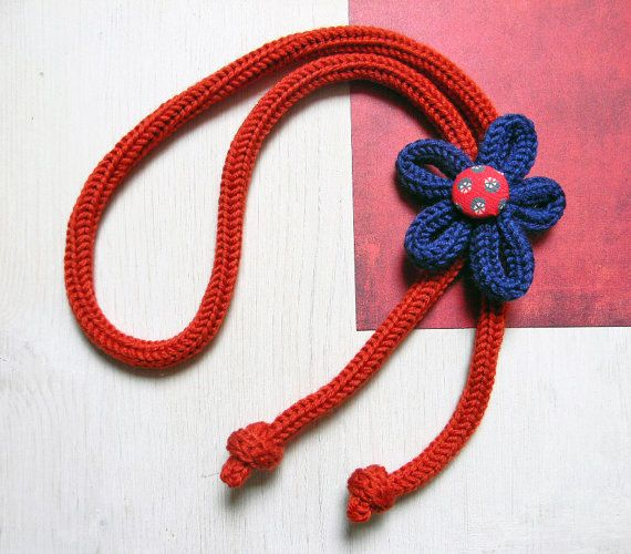 Girl necklace wool flower necklace for teen girls. by ylleannaKids, €25.00