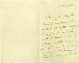 Deux lettres de Marcel Proust à Robert de Montesquiou retrouvées dans des bibliothèques américaines   ITEM