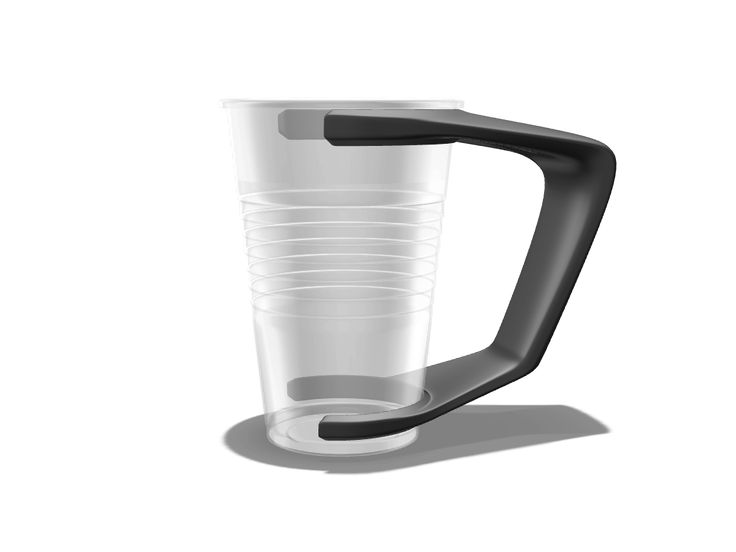 The cup holder was created in dimensions for standard 0,2l plastic cup for coffee machines. 3D printing ready.