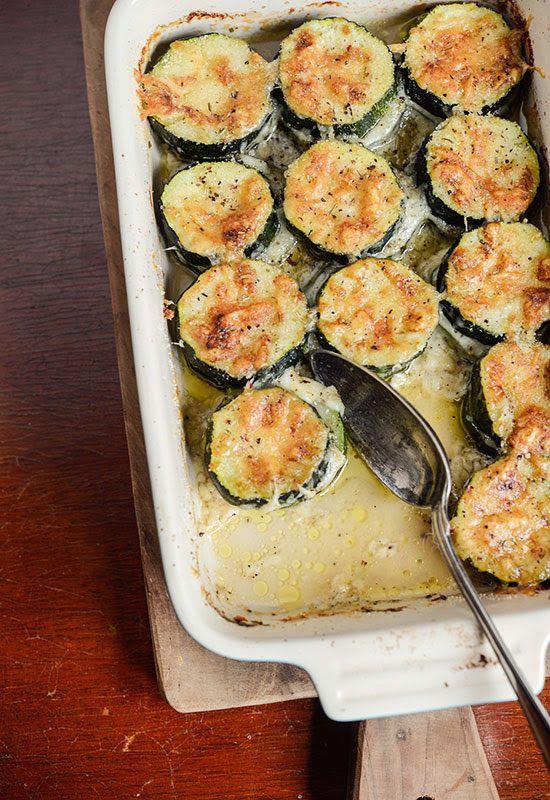 Receta 310: Calabacines gratinados al queso » 1080 Fotos de cocina