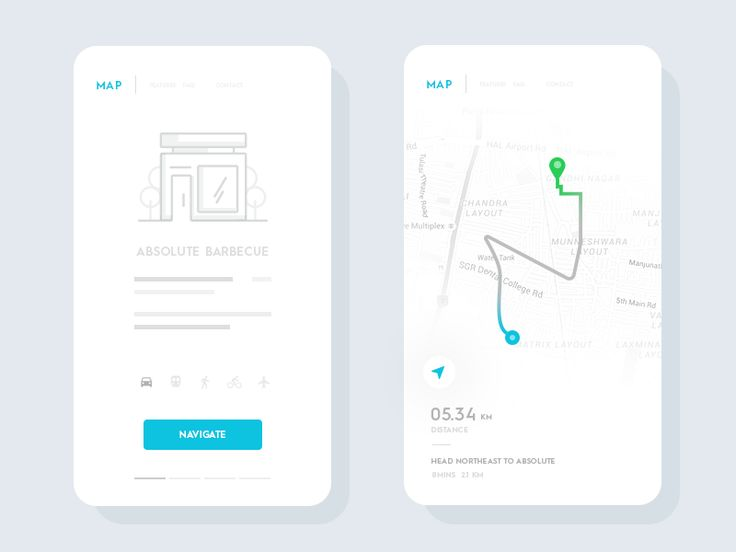 Navigation Map on UI Space