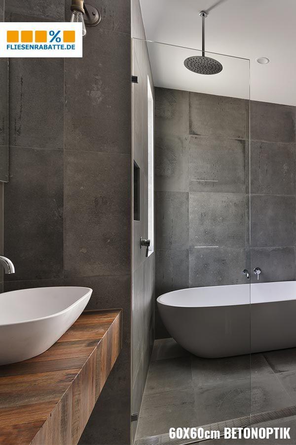 Beton Style Im Bad Badezimmer Fliesen Badezimmer Betonoptik