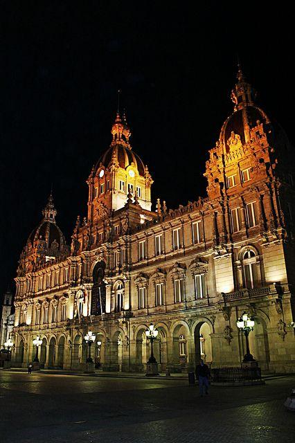 City hall La Coruña. Galicia. Spain