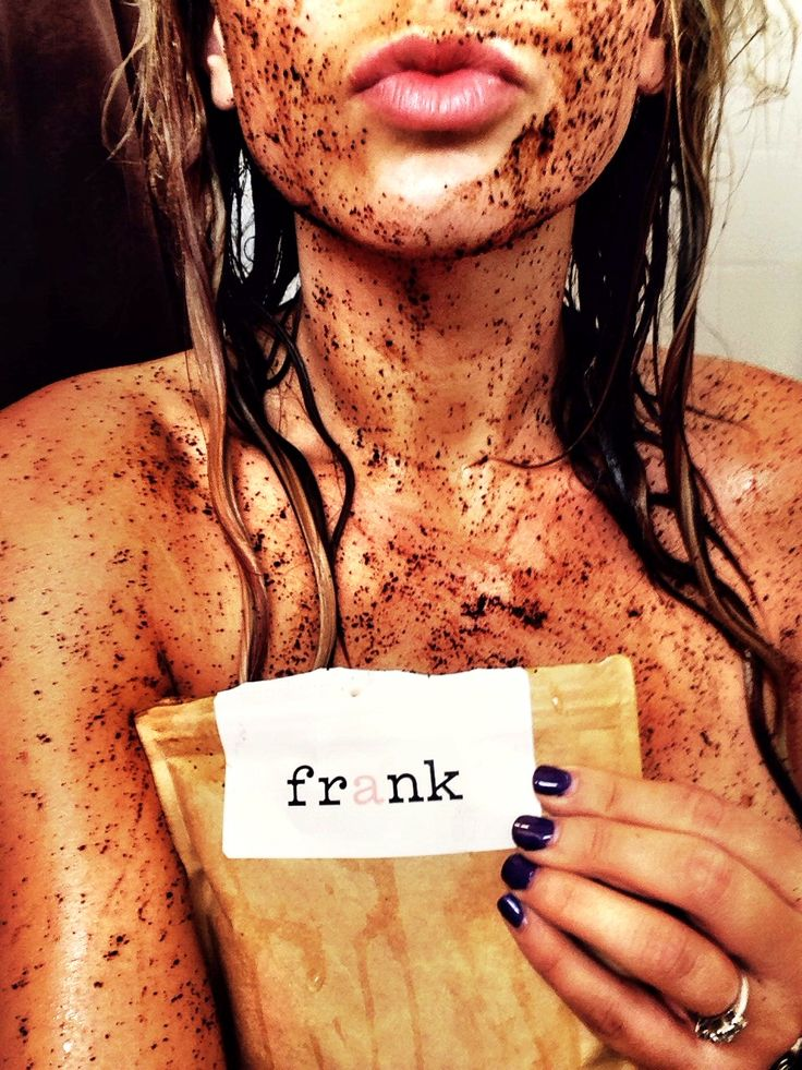 DIY Frank Coffee Body Scrub- this scrub is seriously the stuff of miracles! The coffee beans brighten, tighten, and smooth skin better than anything I've ever tried. Pin now, make later!: