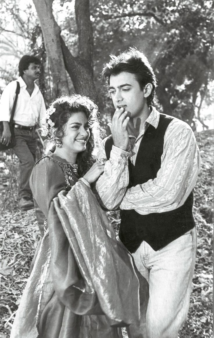Juhi Chawla & Aamir Khan