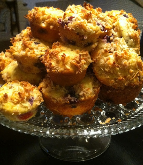 Mango Blueberry Muffins with Coconut Streusel | Misc Foods | Pinterest ...