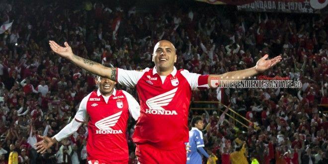 Omar Sebastián Pérez Celebración Santa Fe vs Millonarios