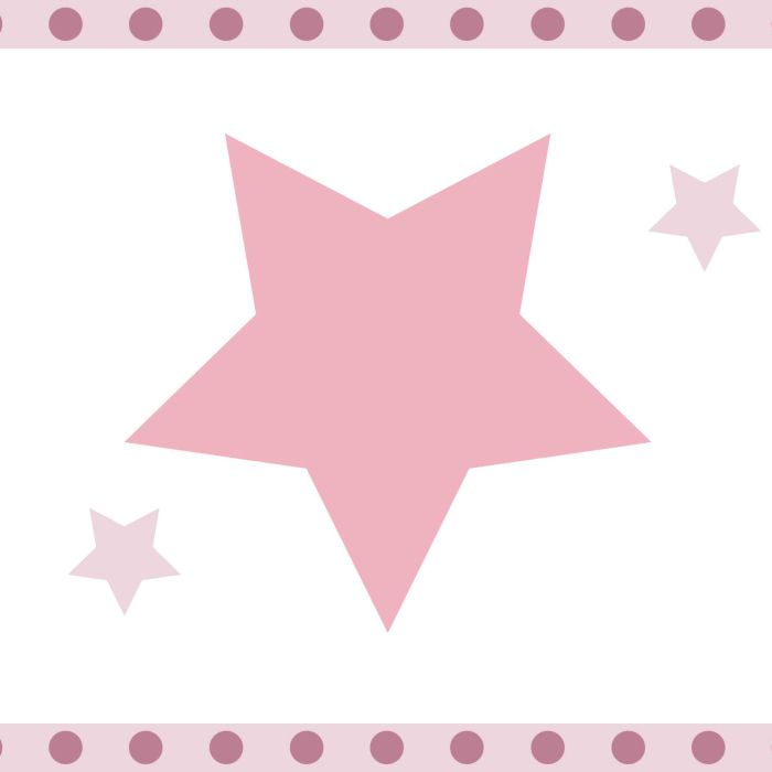 Bordüre \'Sterne\' rosa/mauve, selbstklebend