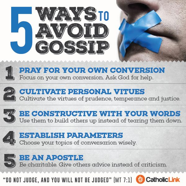 Catholic-Link's Library - Infographic: 5 ways to avoid gossip