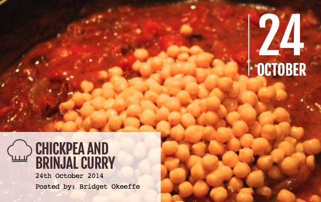 Learn how to make this delicious Vegetarian Chickpea and Brinjal Curry.  View the full recipe here: http://bridalbeautyinsider.com/2014/10/chickpea-and-brinjal-curry-recipe/