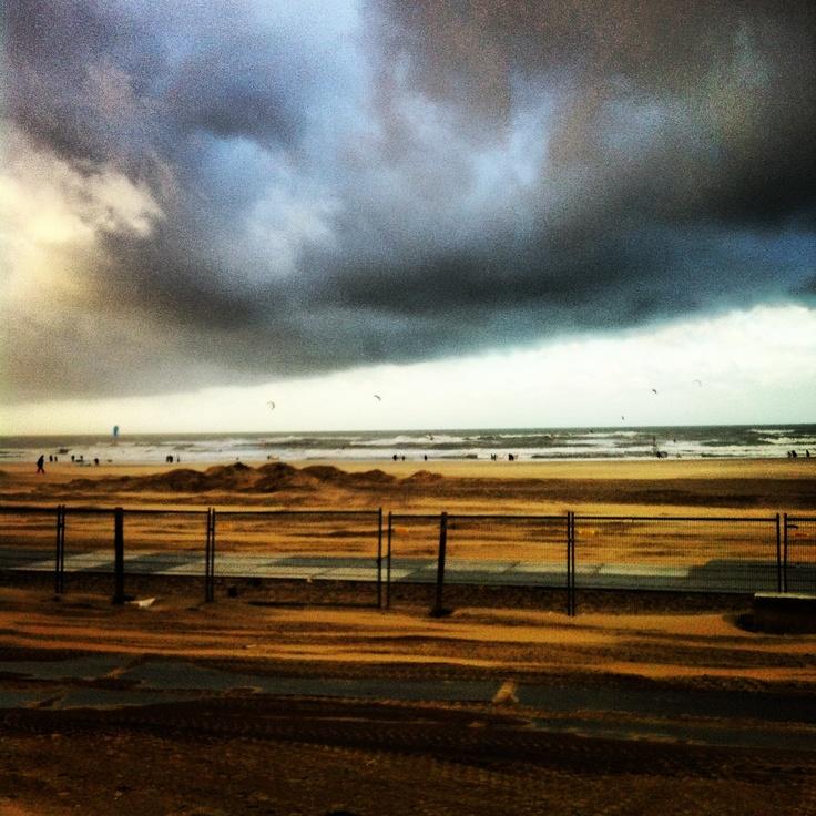 Scheveningen in de storm