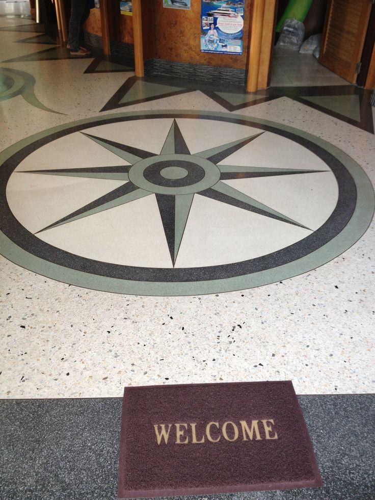 Compass crafted in insitu terrazzo thailand hotel insitu for Terrazo exterior
