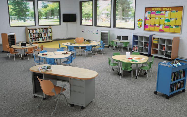 K-3 Environment, Cascade Cubby, 3-2-1 Collaborative Desks, Flavors Chairs, Cascade Teachers desk and more! #earlyed