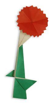 Origami Carnation