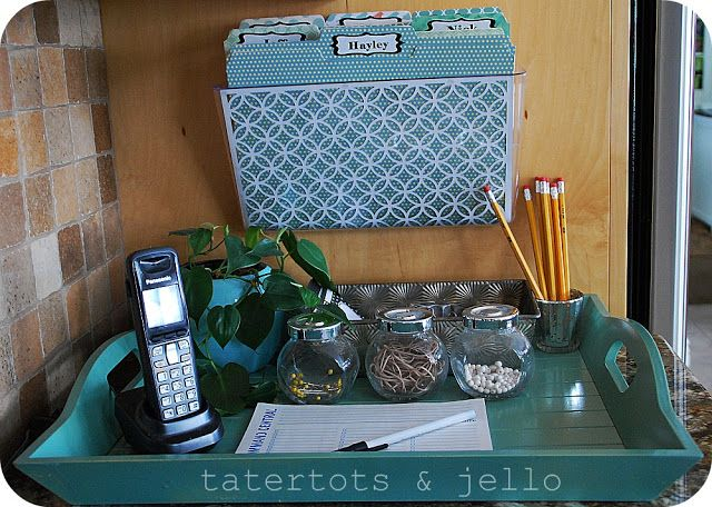 Organization Project  My Kitchen Command Station!!