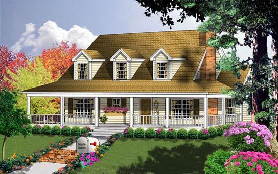 Country House Plan 77004 House Plans Dormer Windows And