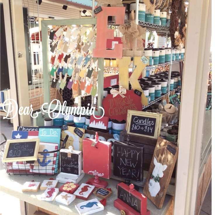 The Dear Olympia Kiosk Outside Of The Navy Exchange Honolulu Sells CeCe  Caldwellu0027s Chalk And Clay