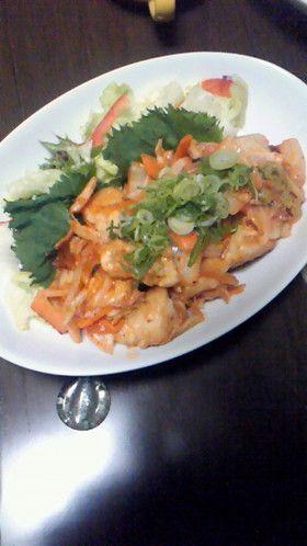 余った白菜&鶏肉&キムチ炒め