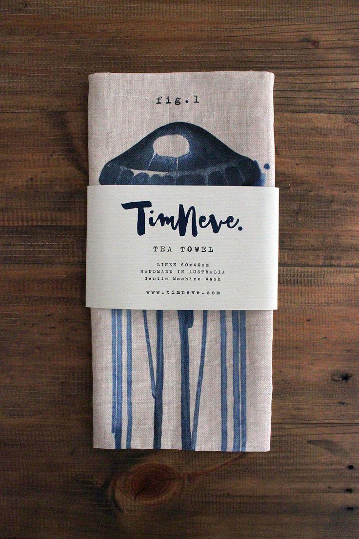 'Blueprint' Tea Towel: Introducing stylist Tim Neve's debut linen tableware designs.