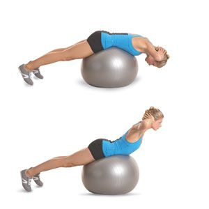 Stability-Ball Back Extension: Stability Ball, Butt Exercise, Ball Exercises, Women Health, Butt Workouts, Ball Workout, Lower Backs, Stabilityball