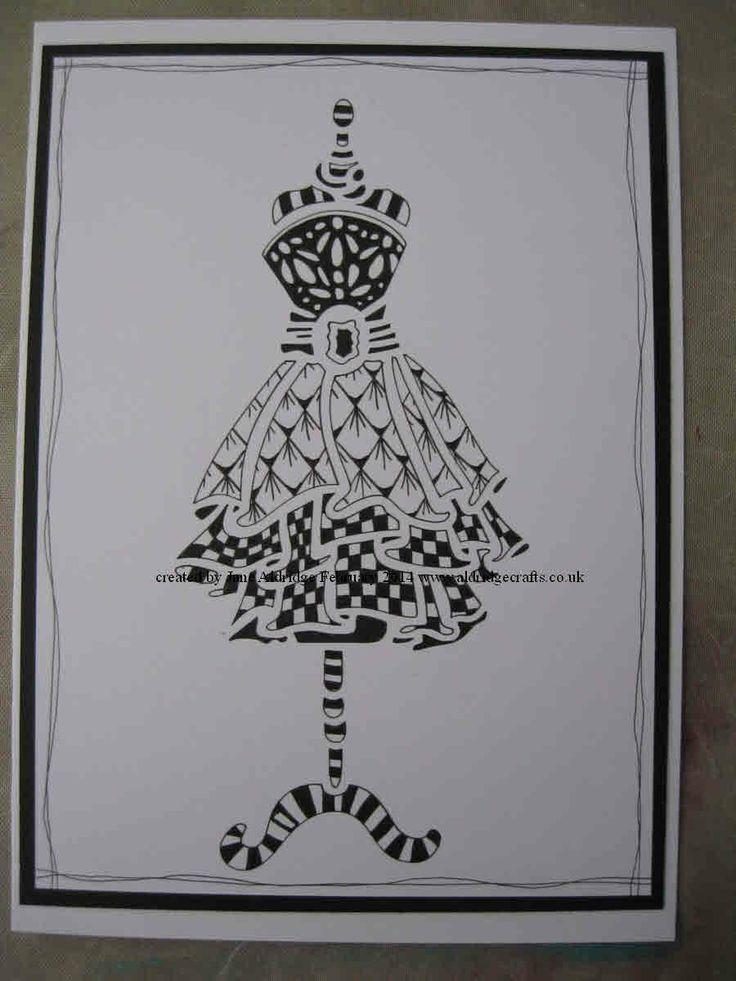 Evening dress pinterest zentangle