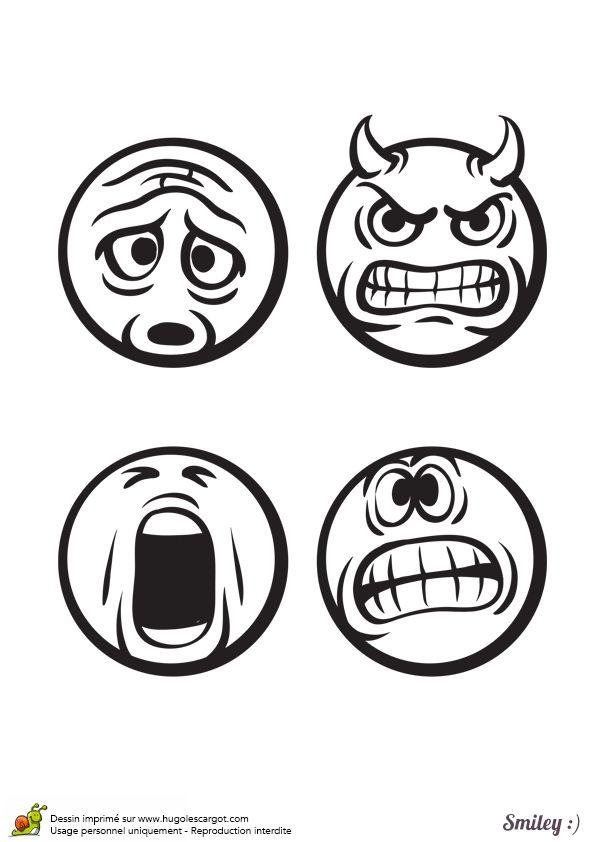 17 meilleures images propos de coloriages smiley sur - Dessin avec emoticone ...