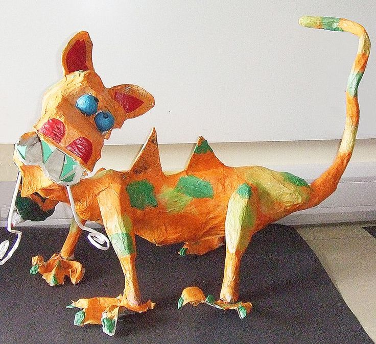 107 best images about paper mache on pinterest cats for Paper mache activities