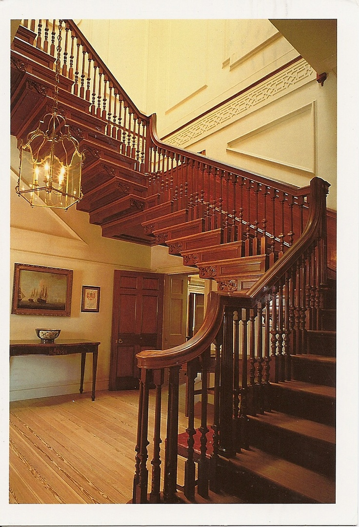 US-515749  Great Stair Case in Tryon Palace, New Bern, North Carolina, USA