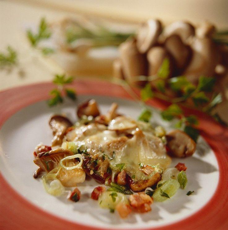 Raclette mit Pilzen und Speck